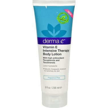 Derma E HG1256262 8 fl oz Vitamin E Intensive Fragrance Free Body Lotion
