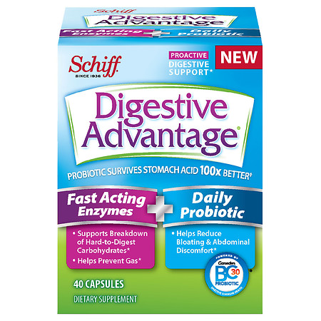 Digestive Advantage Fast Acting Enzymes + Daily Probiotic - 40.0 ea