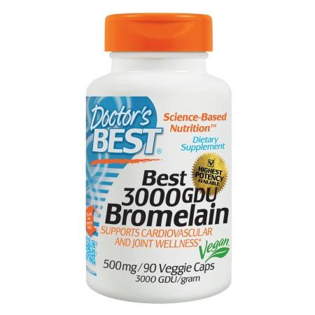 Doctor's Best Best 3000 GDU Bromelain, 500mg, Veggie Caps - 90.0 ea