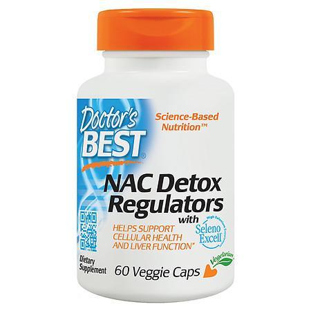 Doctor's Best Best NAC Detox Regulators, Veggie Caps - 60.0 ea