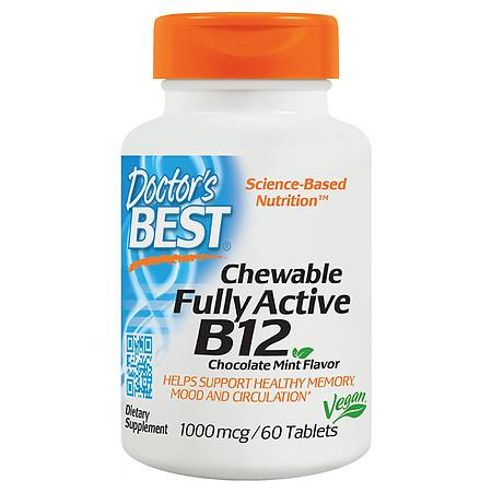 Doctor's Best Chewable Fully Active B12 Tablets Chocolate Mint - 60.0 ea