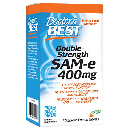 Doctor's Best Double-Strength SAMe, Enteric Coated Tablets - 60.0 ea