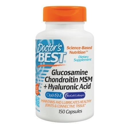 Doctor's Best Glucosamine Chondroitin MSM + Hyaluronic Acid, Capsules - 150.0 ea