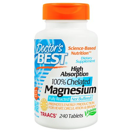 Doctor's Best High Absorption 100% Chelated Magnesium, Tablets - 240.0 ea