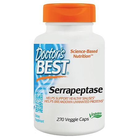 Doctor's Best Serrapeptase Veggie Caps - 270.0 ea
