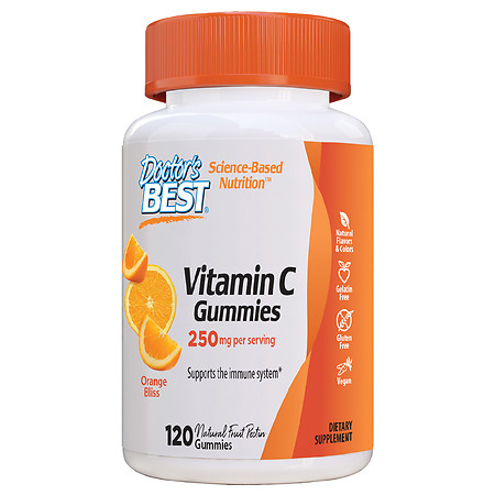 Doctor's Best Vitamin C Gummies 250mg per Serving Orange - 120.0 ea