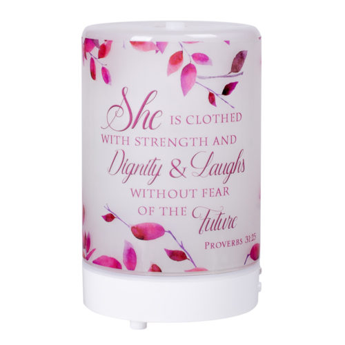 EDF10S She is Clothed - Essential Oil Diffuser, Frosted Glass