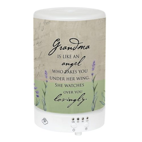 EDF43 Grandma is Like an Angle - Essential Oil Diffuser, Frosted Glass