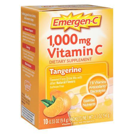 Emergen-C Dietary Supplement Fizzy Drink Mix With 1000mg Vitamin C 10pk - 0.32 oz
