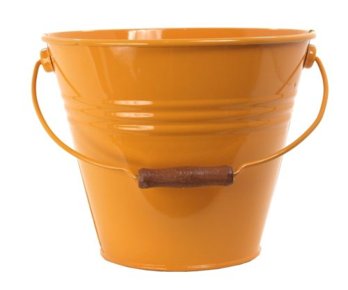 Enameled Galvanized Fun Pail, Saffron