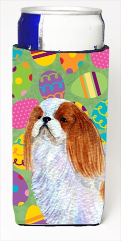 English Toy Spaniel Easter Eggtravaganza Michelob Ultra bottle sleeves For Slim Cans - 12 Oz.