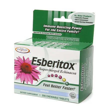 Enzymatic Therapy Esberitox Supercharged Echinacea, Chewable Tablets - 200.0 ea