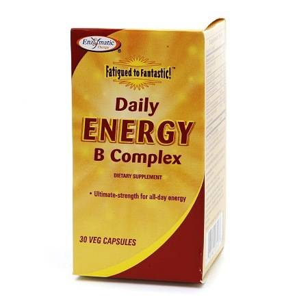 Enzymatic Therapy Fatigued to Fantastic! Daily Energy B Complex, Vegetarian Capsules - 30.0 ea