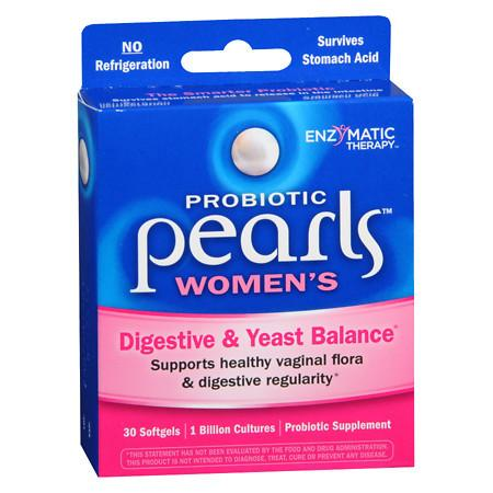 Enzymatic Therapy Pearls YB Yeast-Balancing Probiotics, Capsules - 30.0 ea