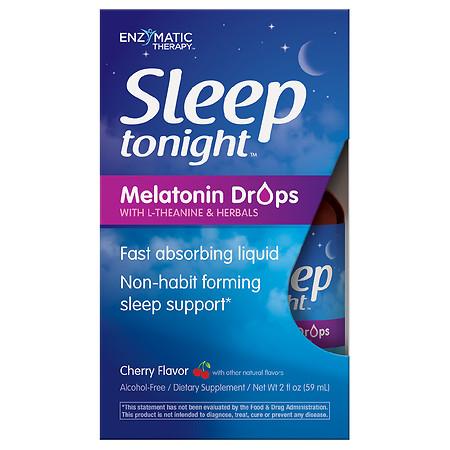 Enzymatic Therapy Sleep Tonight Melatonin Drops Cherry - 2.0 fl oz