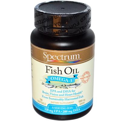 Essentials Fish Oil Omega-3 - 1000 Mg - 100 Softgels