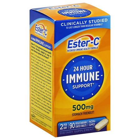 Ester C 500 mg Vitamin C Vitamin Supplement Coated Tablets - 90.0 ea
