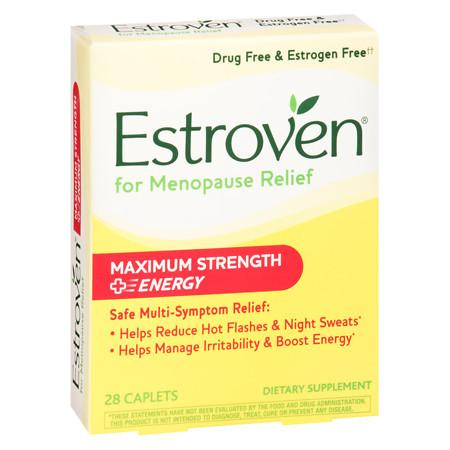 Estroven Menopause Symptom Relief Dietary Supplement Caplets - 28.0 ea