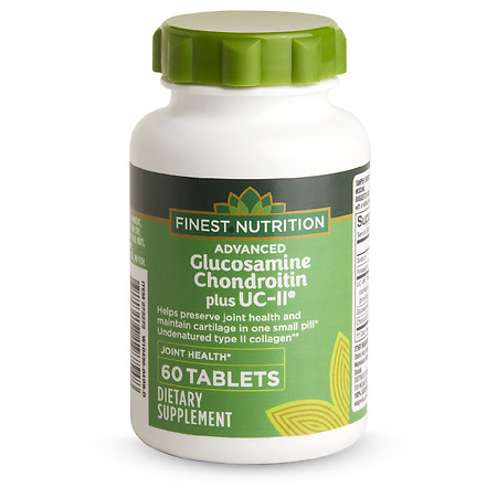Finest Nutrition Advanced Glucosamine & Chondroitin Plus UC-II - 60.0 ea