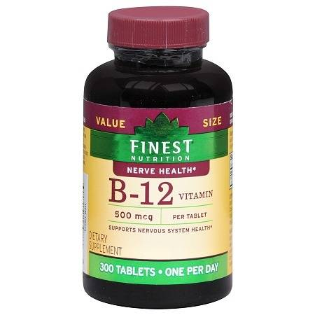 Finest Nutrition B-12 Vitamin 500 mcg Dietary Supplement Tablets - 300.0 ea