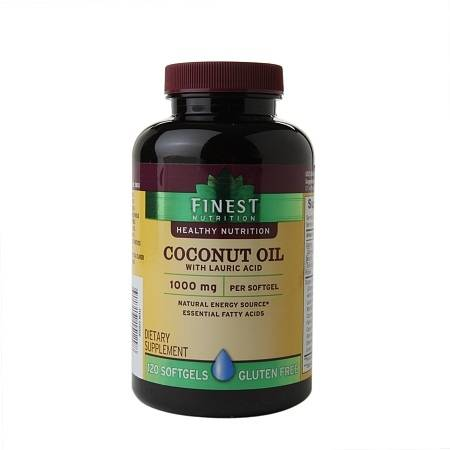 Finest Nutrition Coconut Oil, Softgels - 120.0 ea