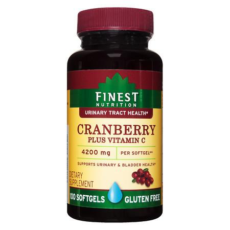 Finest Nutrition Cranberry + Vitamin C, Softgel - 100.0 ea