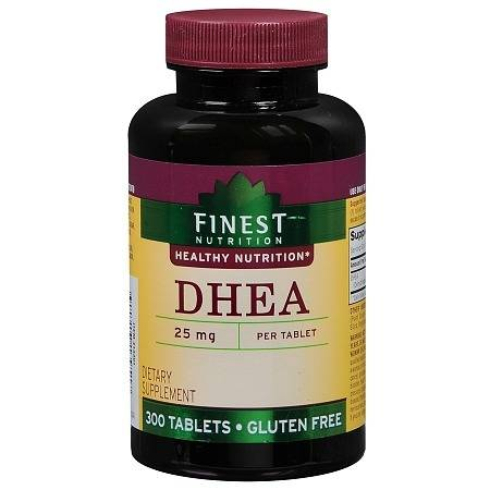 Finest Nutrition DHEA 25mg, Tablets - 300.0 ea
