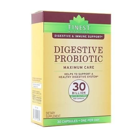 Finest Nutrition Digestive Probiotic Maximum Care Capsules - 30.0 ea