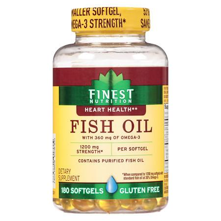 Finest Nutrition Fish Oil 1200 mg Softgels - 180.0 ea