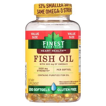 Finest Nutrition Fish Oil 950 mg Softgels - 200.0 ea