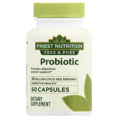 Finest Nutrition Free & Pure Probiotic - 60.0 EA