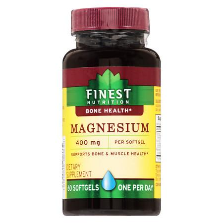 Finest Nutrition Magnesium 400 mg Softgels - 60.0 ea