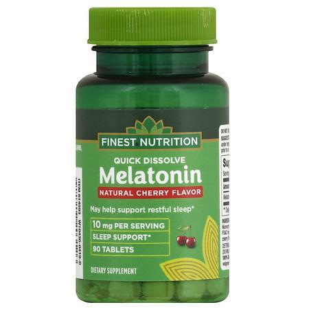 Finest Nutrition Melatonin 10 mg Quick Dissolve - 90.0 ea