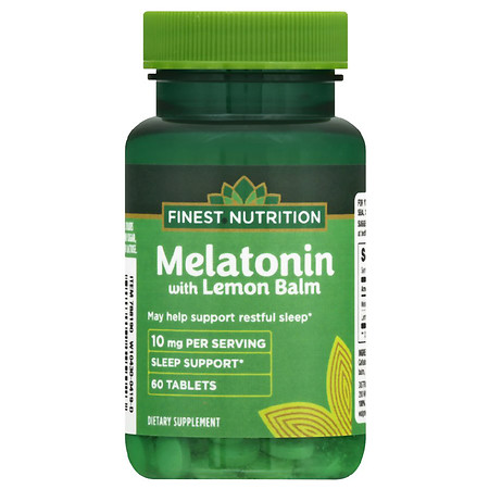 Finest Nutrition Melatonin 10 mg with Lemon Balm - 60.0 ea