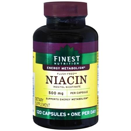 Finest Nutrition Niacin 500 mg Dietary Supplement Capsules - 120.0 ea