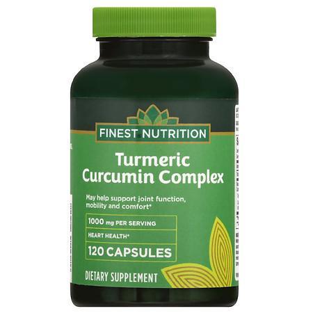Finest Nutrition Turmeric 500 mg Capsules - 120.0 ea