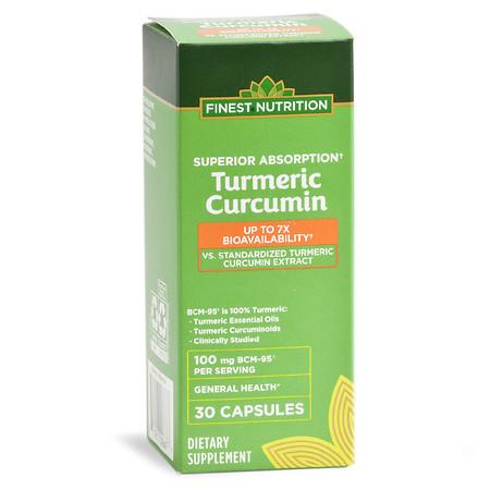 Finest Nutrition Turmeric Curcumin 7x Absorption 100mg - 30.0 ea
