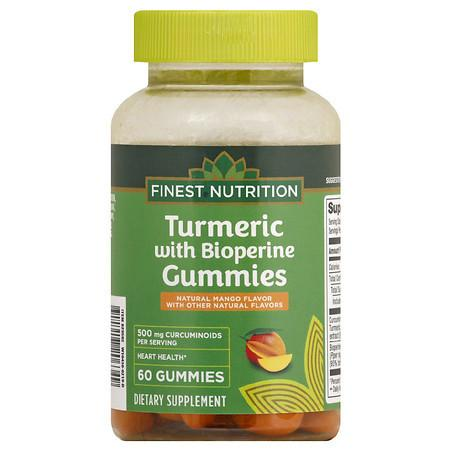 Finest Nutrition Turmeric with Bioperine Gummies Mango - 60.0 ea