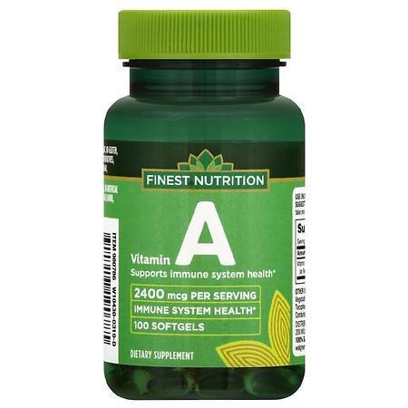 Finest Nutrition Vitamin A 2400 mcg Softgels - 100.0 ea