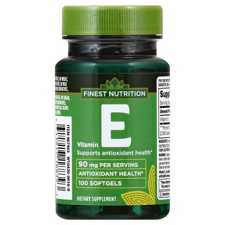Finest Nutrition Vitamin E 200 IU Softgels - 100.0 ea