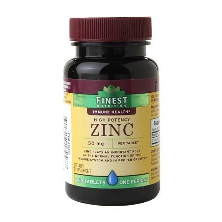 Finest Nutrition Zinc 50mg, Tablets - 100.0 ea