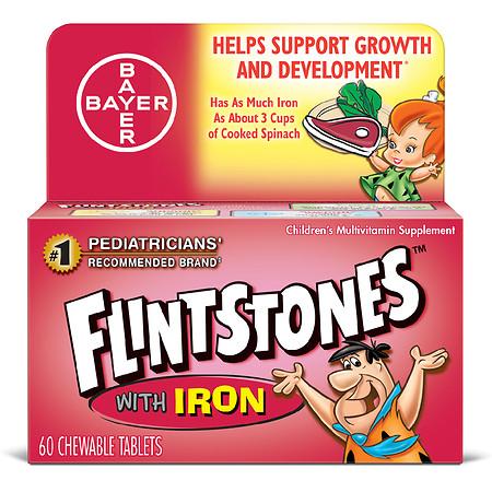 Flintstones Children's Chewable Multivitamins with Iron Orange - 60.0 ea