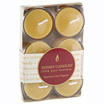 Frontier Natural Products 209753 Pure Beeswax Candles Tea Lights 6 count