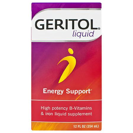 Geritol Liquid High Potency Vitamin B & Iron Supplement - 12.0 fl oz