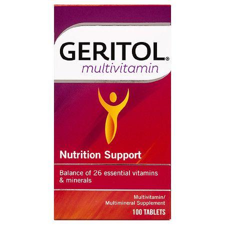 Geritol Multivitamin Nutrition Support Tablets - 100.0 ea