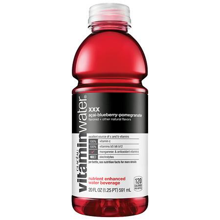 Glaceau Vitaminwater Nutrient Enhanced Beverage Bottle Acai-Blueberry-Pomegranate - 20.0 oz.