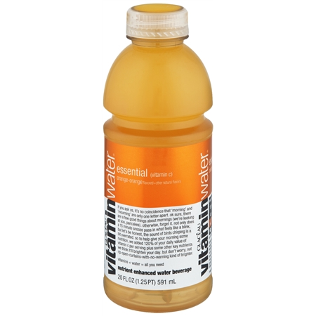 Glaceau Vitaminwater Nutrient Enhanced Water Beverage Bottle Orange - 20.0 oz.