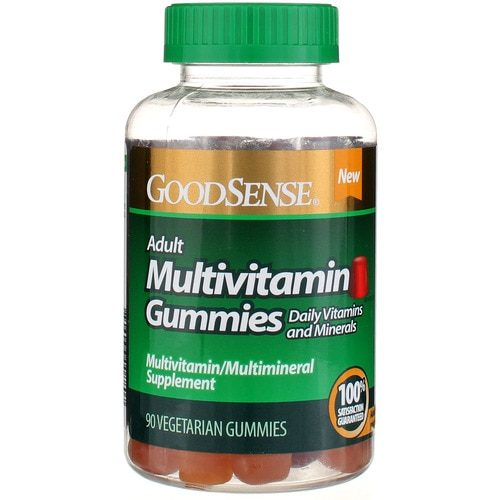 Good Sense 1901389 Adult Multivitamin Vegetarian Gummies, 90 Count