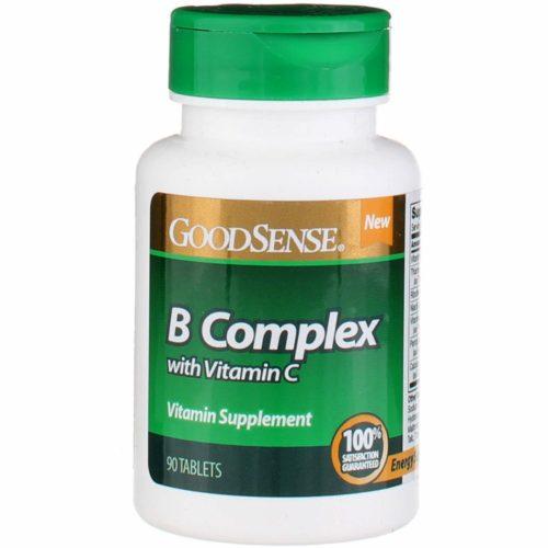 Good Sense 1901486 B-Complex with Vitamin C Supplement Tablet, 90 Count
