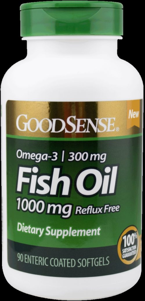 Good Sense 1902164 1000 mg Fish Oil Dietary Supplement Enteric Coated Softgels, 90 Count